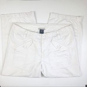 Gap straight Leg Capris, White, Big Pockets